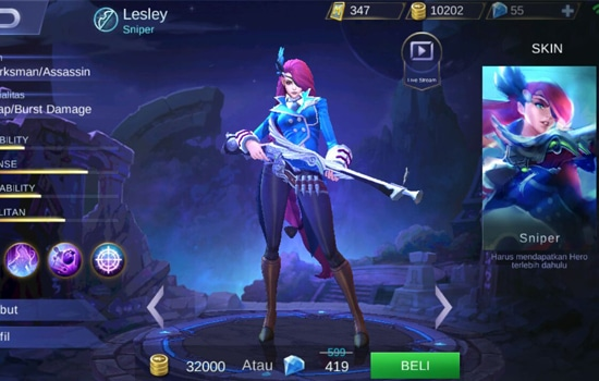 Lesley - Hero Mobile Legends