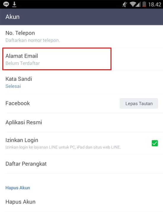 Pilih Alamat Email