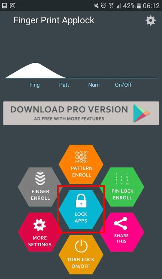 Pilih Lock Apps