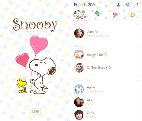 Snoopy Pastel Hearts