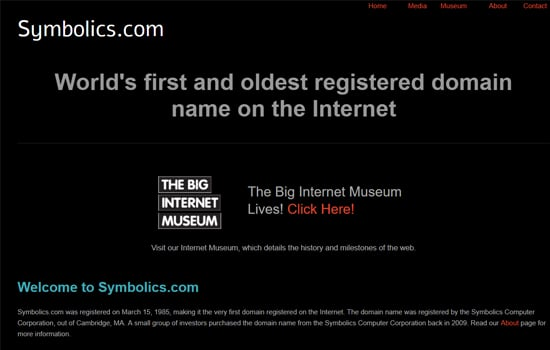 Website Symbolics