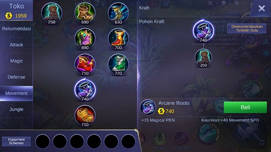Arcane Boots - Item Mobile Legends