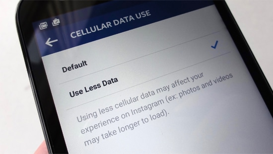 Default Celluler Use Usage