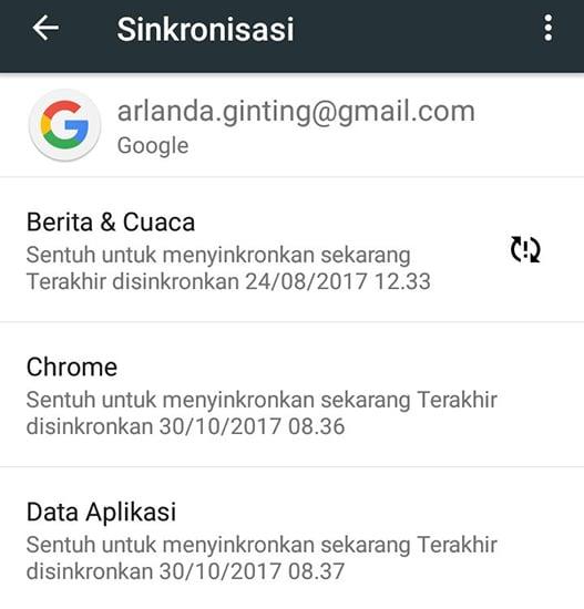 Atur Ulang Akun Google