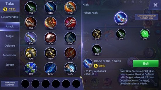 Blade of The 7 Seas - Item Mobile Legends