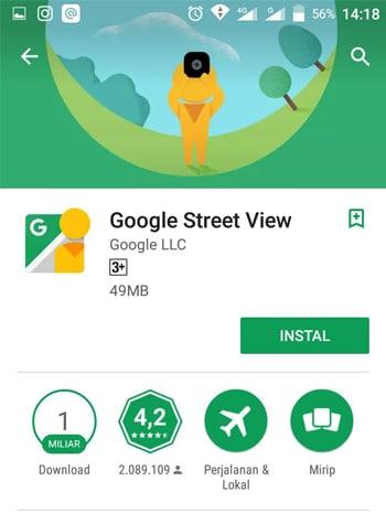 Aplikasi Google View Street