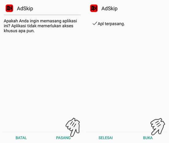 Install Aplikasi AdSkip