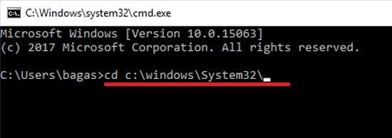 cd c:\windows\System32\