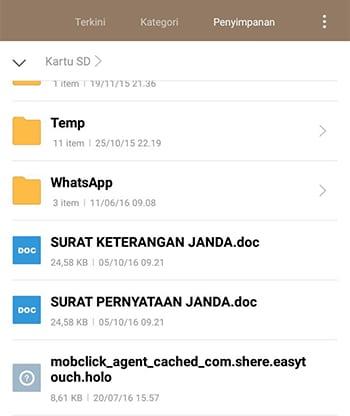 File Tampil Kembali