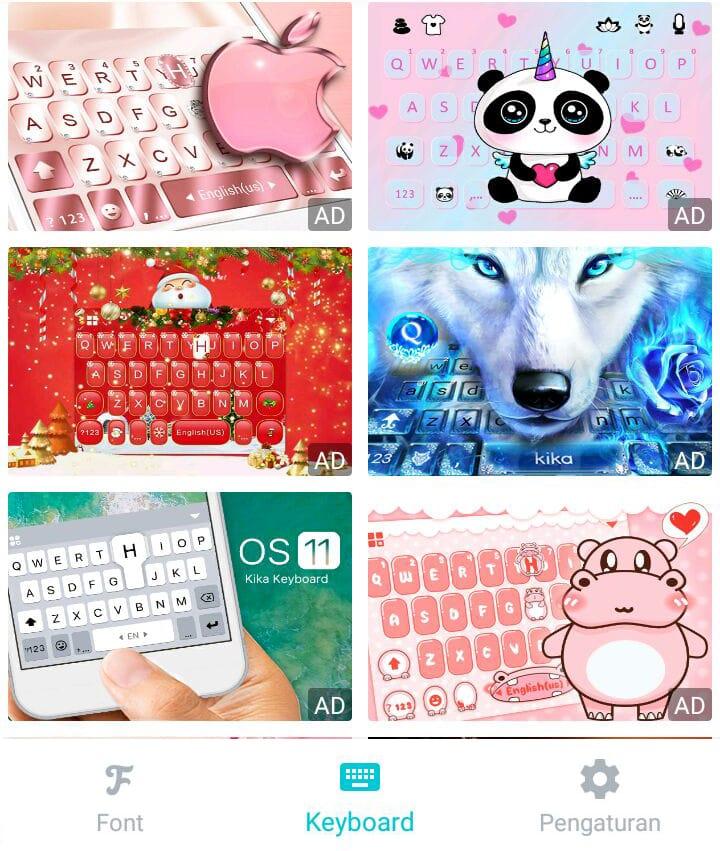 Pilih Keyboard