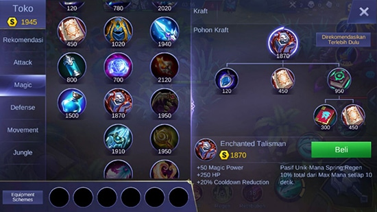 Enchanted Talisman - Item Mobile Legends