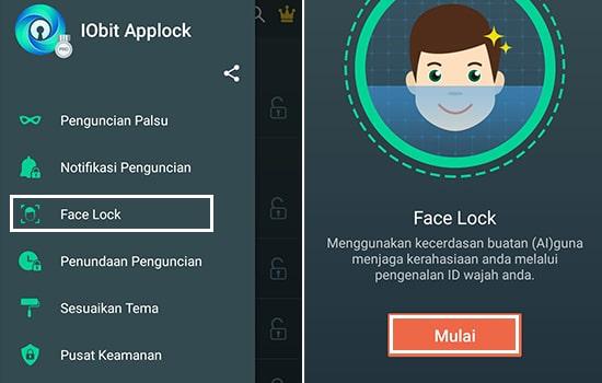 Pilih Face Lock lalu Mulai