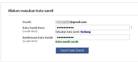 Ganti Password Facebook