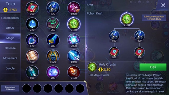 Holy Crystal - Item Mobile Legends