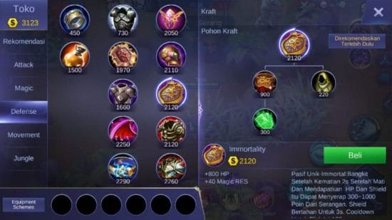 Immortality - Item Mobile Legends