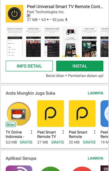 Install Peel Universal Smart TV Remote Control