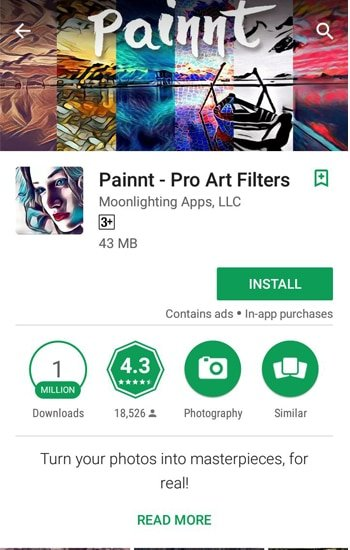 Install Aplikasi Poinnt - Pro Art Filters