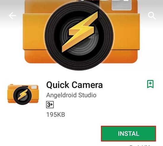 Install Aplikasi Quick Camera