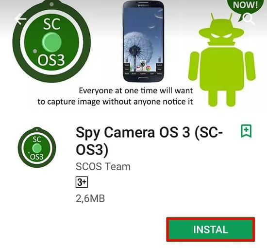 Install Spy Camera
