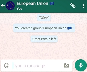 Left Grup WhatsApp
