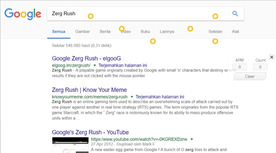Keyword Zerg Rush