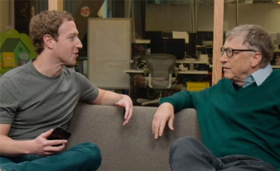 Bill Gates Bersama Mark Zuckerberg