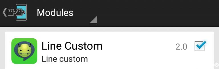 Aktifkan Line Custom di xposed