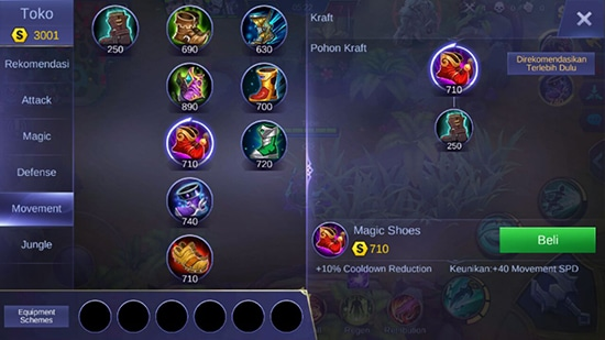Magic Shoes - Item Mobile Legends