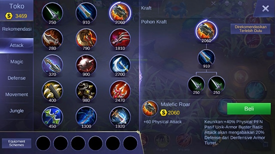 Malefic Roar - Item Mobile Legends