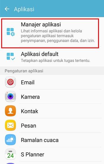 Masuk ke Manajer Aplikasi