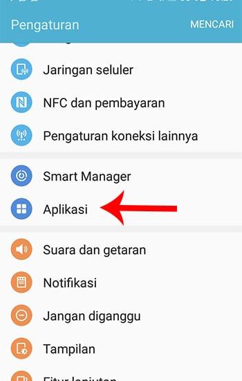 Masuk Pengaturan Aplikasi