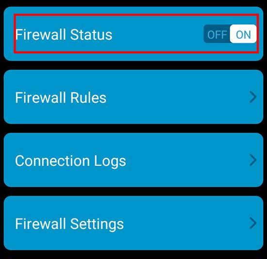 Merubah Firewall Status