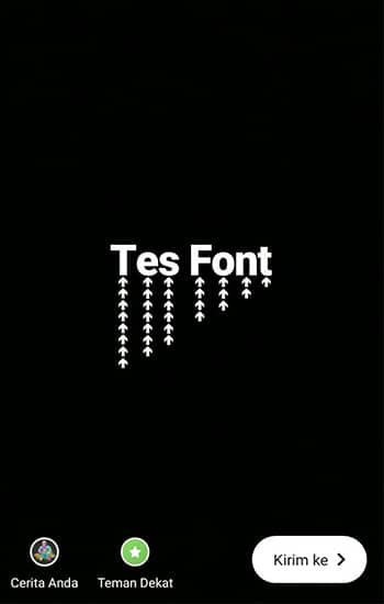 Paste Font yang sudah dituliskan