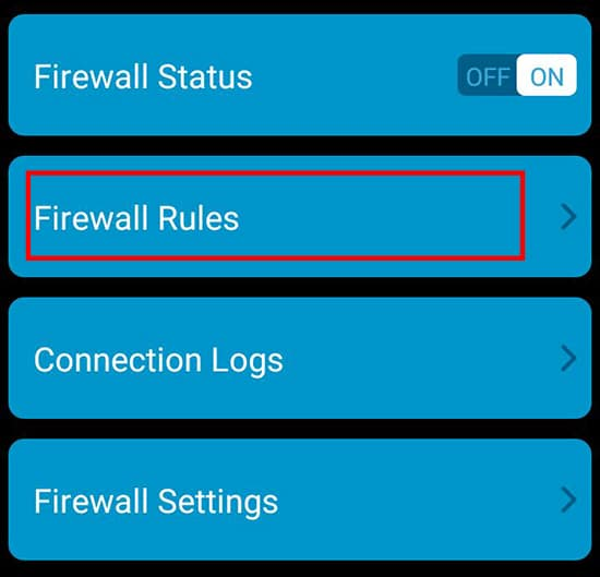 Pilih Firewall Rules