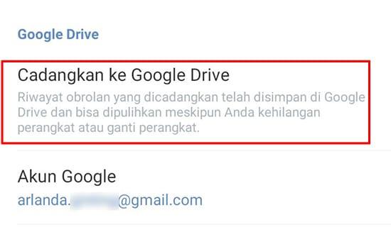 Pilih Google Drive