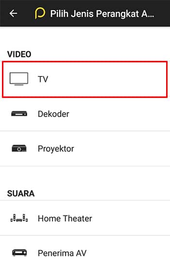 Pilih Icon TV