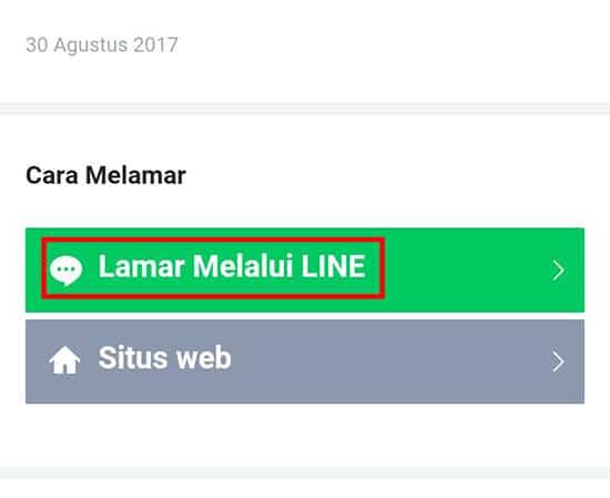 Pilih Lamar Melalui LINE