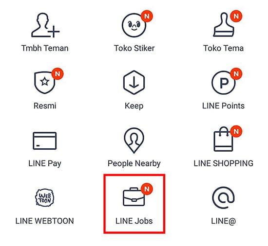 Pilih LINE Jobs