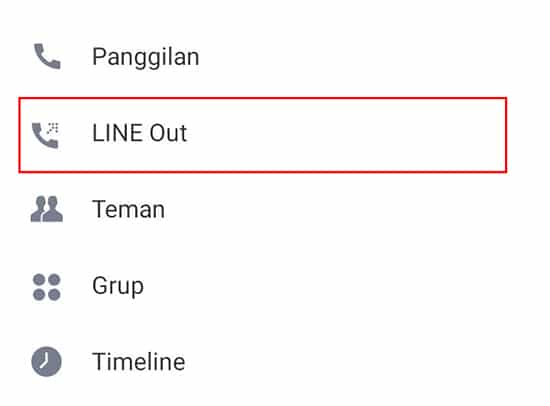 Pilih LINE Out