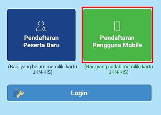 Pilih Pendaftaran Penggunaan Mobile