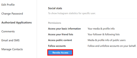 Pilih Revoke Access