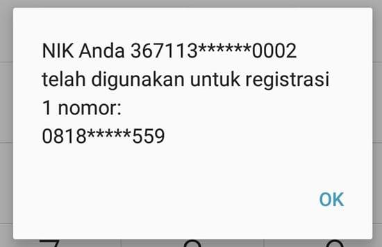 Nomor Kamu Registrasi atau Belum