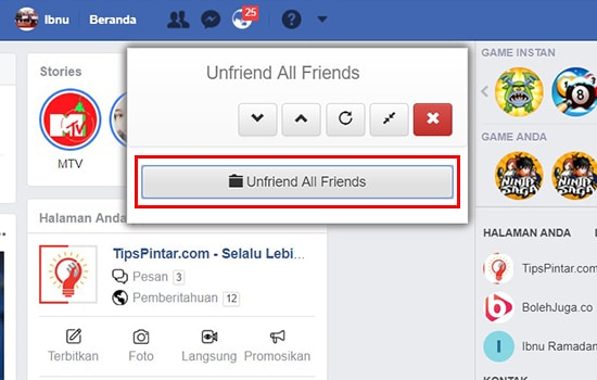 Unfriend All Friends