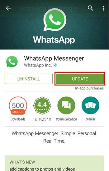 Update Aplikasi WhatsApp