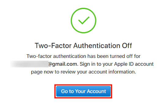 Go to Your Account