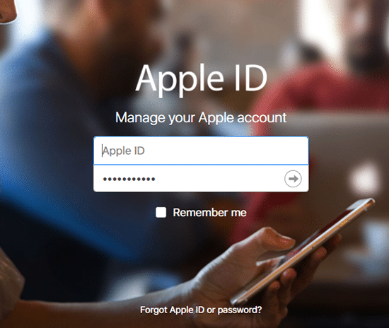 Masukan ID Apple