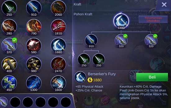 Berserker's Fury - Item Mobile Legends