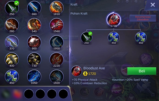 Bloodlust Axe - Item Mobile Legends
