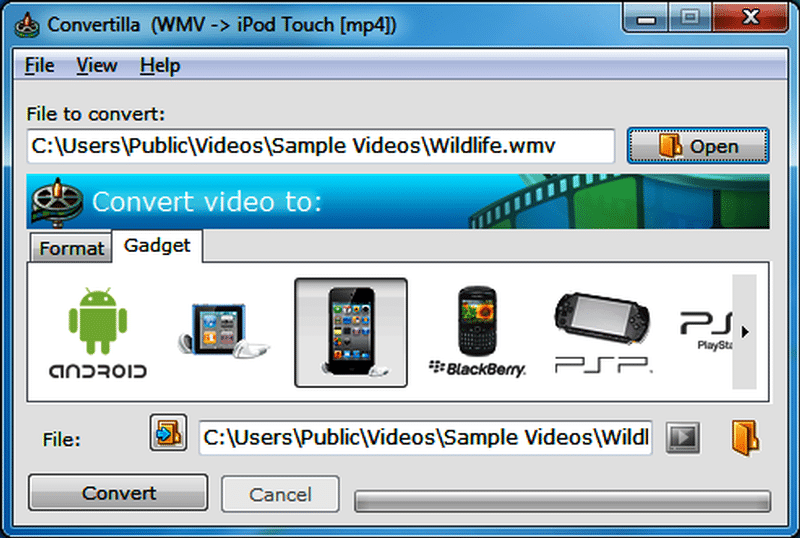 Convertilla Free Video Converter