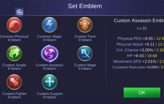 Gunakan Emblem yang Tepat